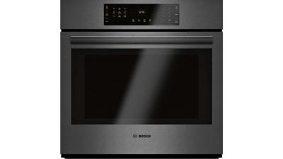 """30"""" Bosch 4.6 Cu. Ft. 800 Series Single Wall Oven In Black Stainless Steel - HBL8443UC"""