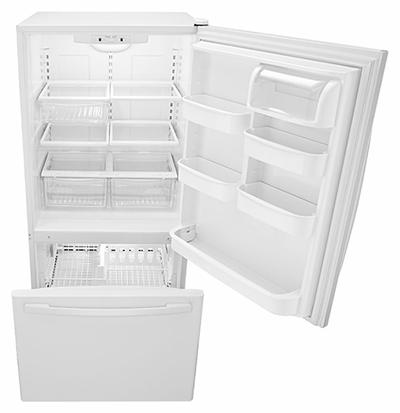 "33"" Amana 22 cu. ft. Bottom-Freezer Refrigerator  - ABB2224BRW"