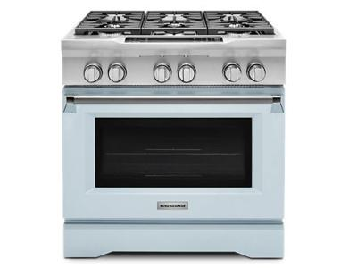 "36"" KitchenAid Limited Edition 6-Burner Dual Fuel Freestanding Range, Commercial-Style - KDRS467VMB"