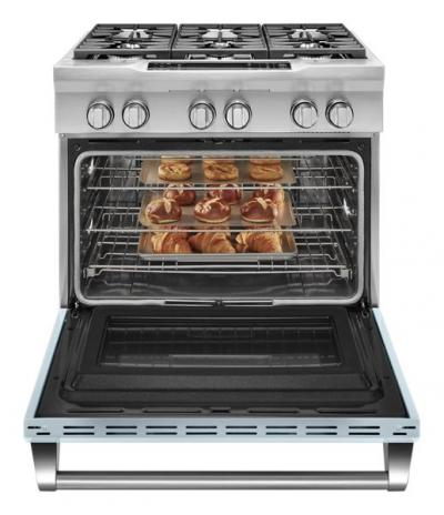 """36"""" KitchenAid Limited Edition 6-Burner Dual Fuel Freestanding Range, Commercial-Style - KDRS467VMB"""