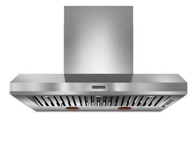 """48"""" KitchenAid Wall-Mount 600-1200 CFM Canopy Hood, Commercial-Style - KXW9748YSS"""
