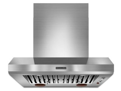 """36"""" KitchenAid  Wall-Mount 600-1200 CFM Canopy Hood, Commercial-Style - KXW9736YSS"""