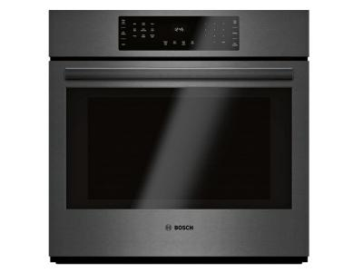 "30"" Bosch 800 Series Single Wall Oven Black stainless steel - HBL8443UC"
