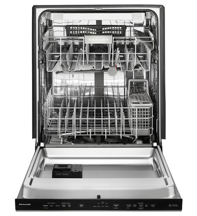 "24"" KitchenAid Dishwasher with Fan-Enabled ProDry System and Print Shield Finish, Pocket Handle - KDPE334GPS"
