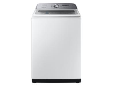 "28"" Samsung 5.8 Cu. Ft. Top Load Washer With Active WaterJet In White - WA50R5200AW"