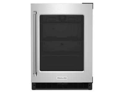 "24"" KitchenAid 5.2 Cu. Ft. Undercounter Refrigerator With Glass Door - KURR214KSB"