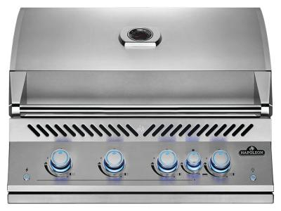 """34"""" Napoleon Built-In 700 Series 32 RB Propane Gas Grill With Infrared Rear Burner In Satinless Steel - BIG32RBPSS"""