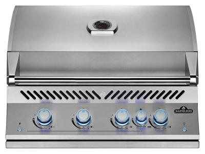 """34"""" Napoleon Built-In 700 Series 32 RB Natural Gas Grill With Infrared Rear Burner In Satinless Steel - BIG32RBNSS"""