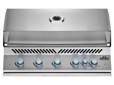 """40"""" Napoleon Built-In 700 Series 38 RB Propane Gas Grill With Infrared Rear Burner In Stainless Steel - BIG38RBPSS"""