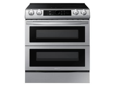 "30"" Samsung 6.3 Cu. Ft. Dual Door Induction Range With Wi-Fi And Air Fry - NE63T8951SS"