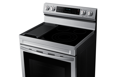 """30"""" Samsung 6.3 Cu. Ft. Freestanding Electric Range With Air Fry And Wi-fi In Stainless Steel - NE63A6711SS"""