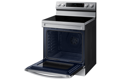 """30"""" Samsung 6.3 Cu. Ft. Freestanding Electric Range With Air Fry And Wi-fi In Satinless Steel - NE63A6511SS"""