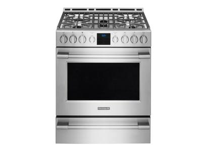 """30"""" Frigidaire Professional 5.1 Cu. Ft. Gas Front Control Freestanding - FPGH3077RF"""