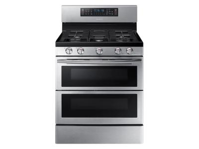 Samsung Smart Freestanding Gas Range With Flex Duo And Dual Door In Stainless Steel - NX58K7850SS