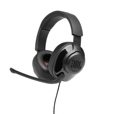 JBL Quantum 300 Hybrid Wired Over-Ear Gaming Headset with Flip-Up Mic - JBLQUANTUM300BLKAM