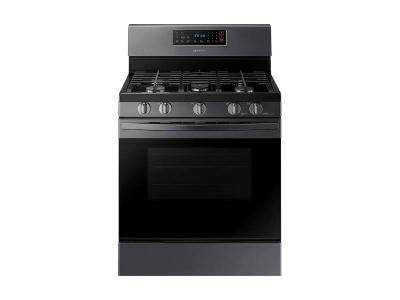 "30"" Samsung 5.8 cu. ft. Freestanding Gas Range in Black Stainless Steel - NX58R4311SG"