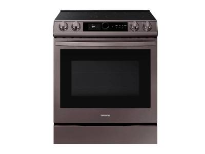 "30"" Samsung  6.3 cu ft. Smart Slide-in Electric Range with Smart Dial & Air Fry - NE63T8711ST"