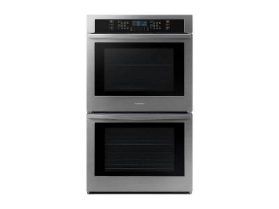 """30"""" Samsung Smart Double Wall Oven in Stainless Steel - NV51T5511DS"""