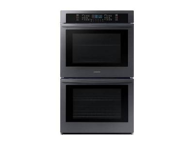 "30"" Samsung Smart Double Wall Oven in FingerPrint Resistant Black Stainless Steel - NV51T5511DG"