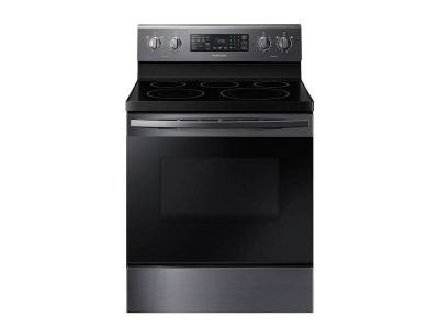 """30"""" Samsung 5.9 cu. ft. Freestanding Electric Range with Convection in Black Stainless Steel - NE59R4321SG"""