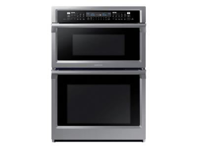 Samsung Smart Microwave Combination Wall Oven With Steam Cook In Stainless Steel - NQ70M6650DS