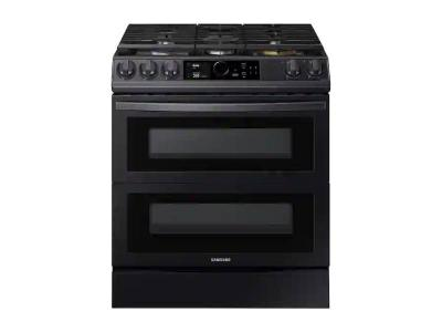 """30"""" Samsung 6.0 cu ft. Capacity Smart Slide-in Gas Range with Flex Duo - NX60T8751SG"""