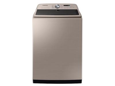 Samsung Top Load Washer With Super Speed In Champagne - WA54R7600AC