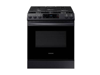 "30"" Samsung 6.0 cu ft. Capacity Smart Slide-in Gas Range - NX60T8111SG"