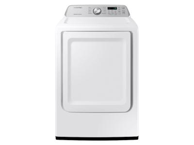Samsung Electric Dryer With Sensor Dry In White - DVE45T3400W