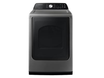 Samsung Electric Dryer With Sensor Dry In Platinum - DVE45T3400P