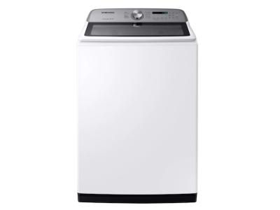 Samsung Top Load Washer with Active WaterJet In White - WA54R7200AW