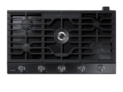 "36"" Samsung Smart Gas Cooktop with Illuminated Knobs - NA36N6555TG"