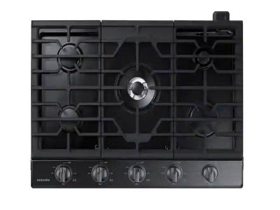 """30"""" Samsung Smart Gas Cooktop with Illuminated Knobs - NA30N6555TG"""