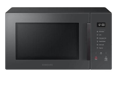 """20"""" Samsung 1.1 cu. Ft. Countertop Microwave with Grilling Element in Charcoal - MG11T5018CC"""