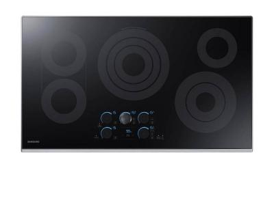 """36"""" Samsung  Smart Electric Cooktop with Sync Elements in Stainless Steel - NZ36K7570RS"""