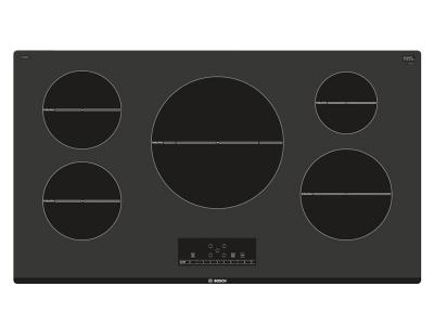 "37"" Bosch 500 Series Induction Cooktop Black- NIT5668UC"