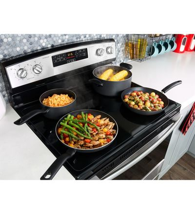 "30"" Amana Electric Range with Self-Clean Option - YAER6603SFS"