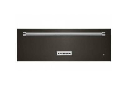 "27"" Kitchenaid  Warmer Drawer in Black Stainless Steel - KOWT107EBS"