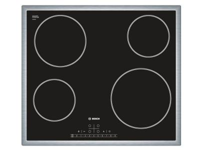"""23"""" Bosch 500 Series Built-In Electric Cooktop With Stainless Steel Frame - NET5466SC"""