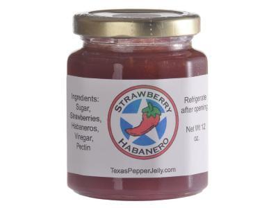 Texas Pepper Jelly 12 Oz Strawberry Habanero Pepper Jelly - Strawberry Habanero Jelly