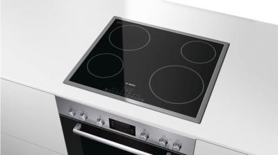 "23"" Bosch 500 Series Built-In Electric Cooktop Black with Stainless Steel Frame-NET5466SC"
