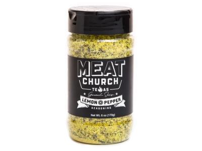 Meat Church 6 Oz Gourmet Lemon Pepper Seasoning - GOURMET LEMON PEPPER