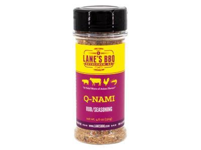 Lane's BBQ 4.6 Oz Q-nami Rub - Q-NAMI RUB Available in 4.6oz for $11.99 & 16oz for $32.99
