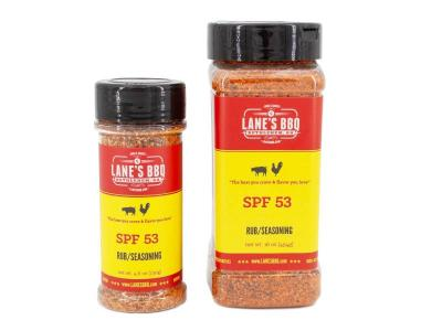 Lane's BBQ  Spicy Spf 53 Rub - SPF 53 RUB Available in 4.6oz for $11.99 & 16oz for $32.99