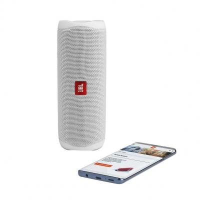 JBL FLIP 5 Portable Waterproof Speaker - JBLFLIP5WHTAM