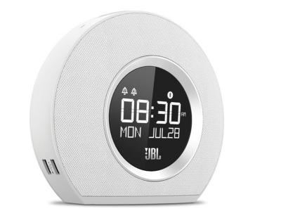 JBL Bluetooth clock radio with USB charging and ambient light - JBLHORIZONWHTAM-
