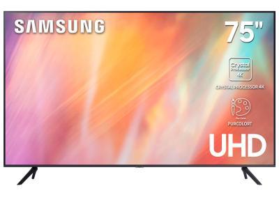 "75"" Samsung UN75AU7000 LCD 4K TV"
