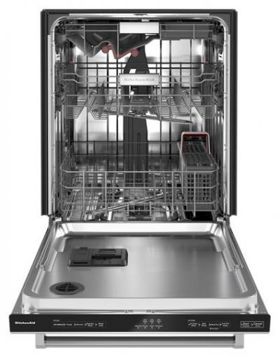 "24"" KitchenAid 44 dBA Dishwasher In PrintShield Finish with FreeFlex Third Rack - KDTM404KPS"