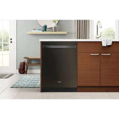 "24"" Whirlpool Built-In Undercounter Dishwasher in Black Stainless Steel - WDT750SAKV"