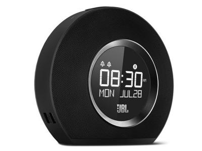 JBL Bluetooth clock radio with USB charging and ambient light - JBLHORIZONBLKAM